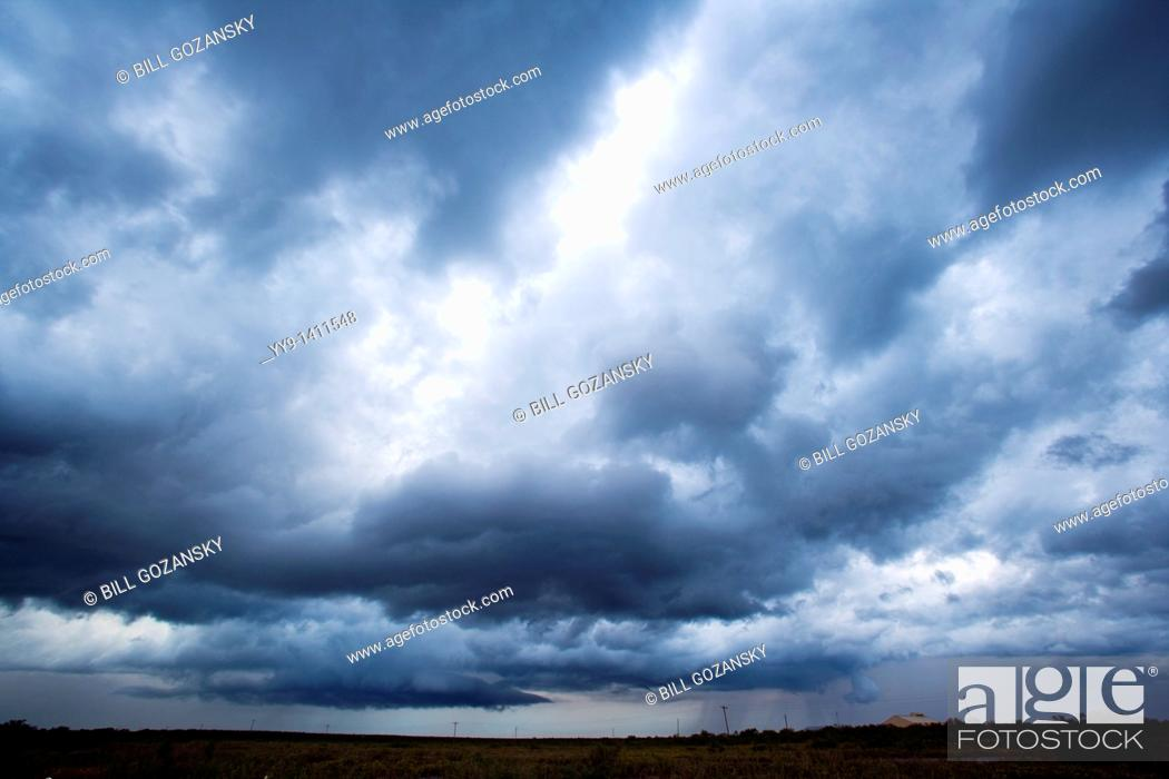Stock Photo: Thunderstorm approaching - Los Novios Ranch - near Cotulla, Texas USA.