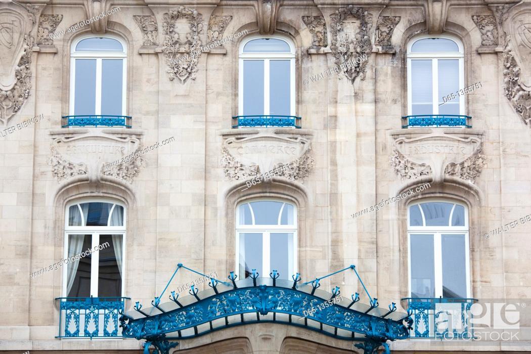 Stock Photo: France, Meurthe-et-Moselle, Lorraine Region, Nancy, Chamber of Commerce building, art-nouveau style.