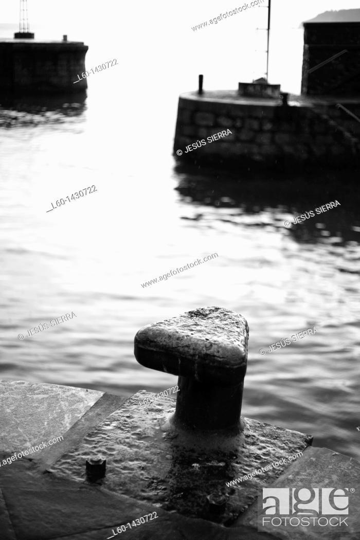 Stock Photo: Elantxobe Harbour, Biscay, Spain.