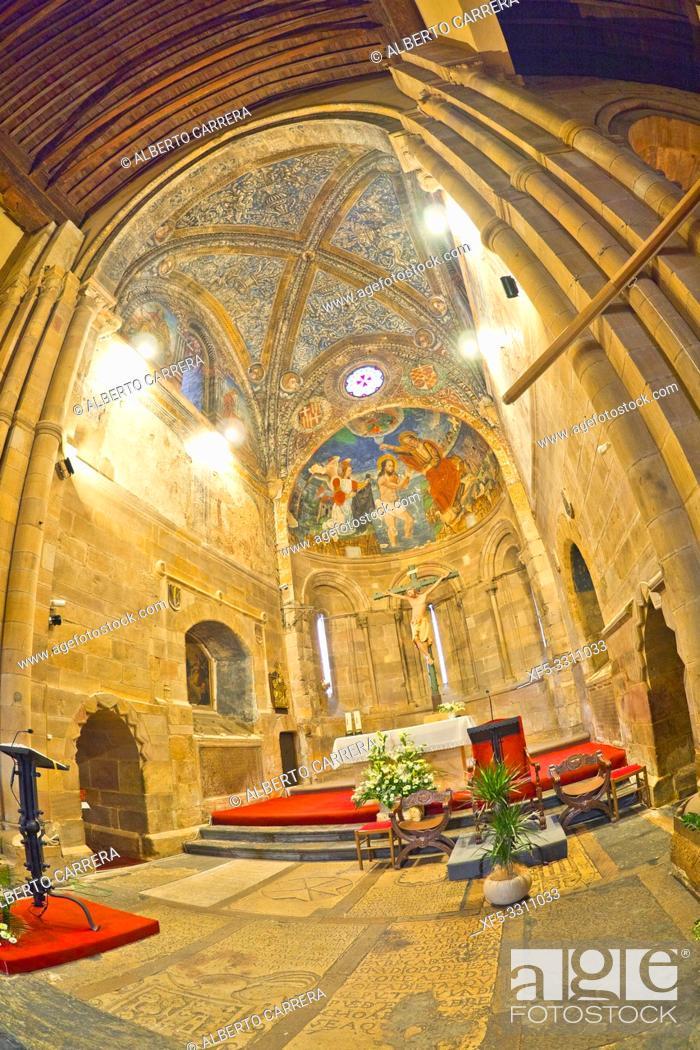 Stock Photo: Church of San Juan del Mercado, 12-13th Century Romanesque Style, Benavente, Zamora, Castilla y León, Spain, Europe.