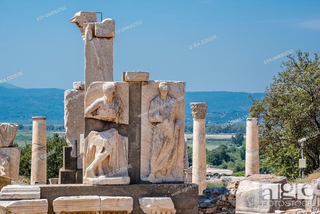 Stock Photo: Memmius Monument at Ephesus historical ancient city, in Selcuk,Izmir,Turkey:20 August 2017.