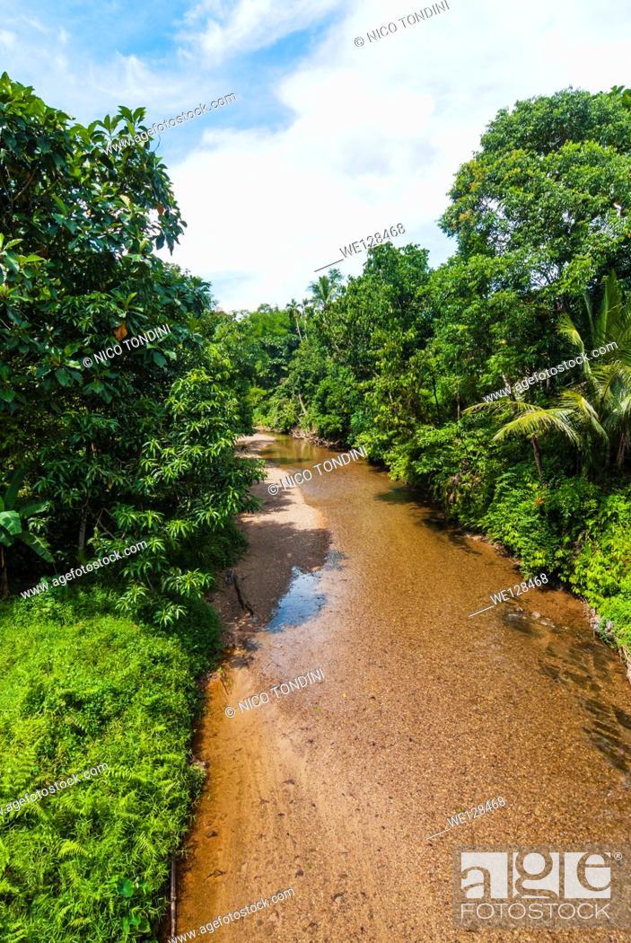 Stock Photo: Lemanak River, Sarawak, Malaysian Borneo, Malaysia, Southeast Asia, Asia,.