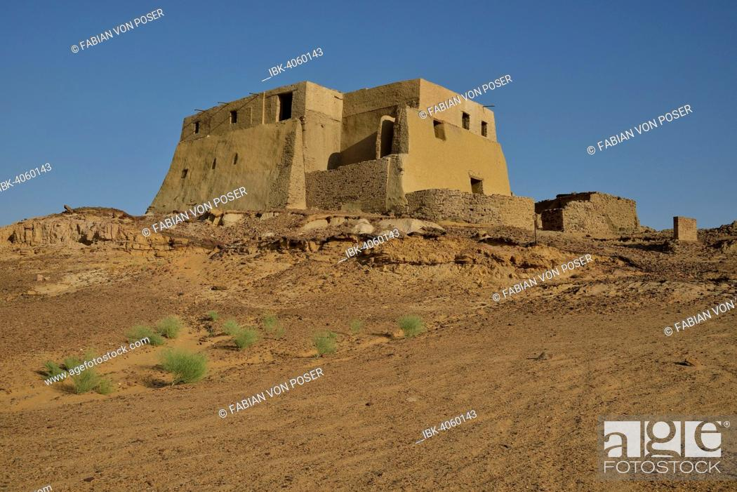 Imagen: Throne room, former church, then a mosque, Old Dongola, capital of the Nubian Christian kingdom of Makuria between the 4th and 14th century, Ash Shamaliyah.
