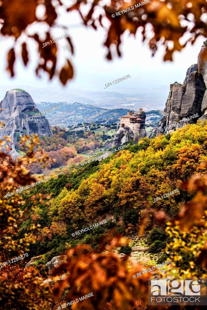 Stock Photo: Holy Monastery of St. Nicholas Anapausas; Meteora, Greece.