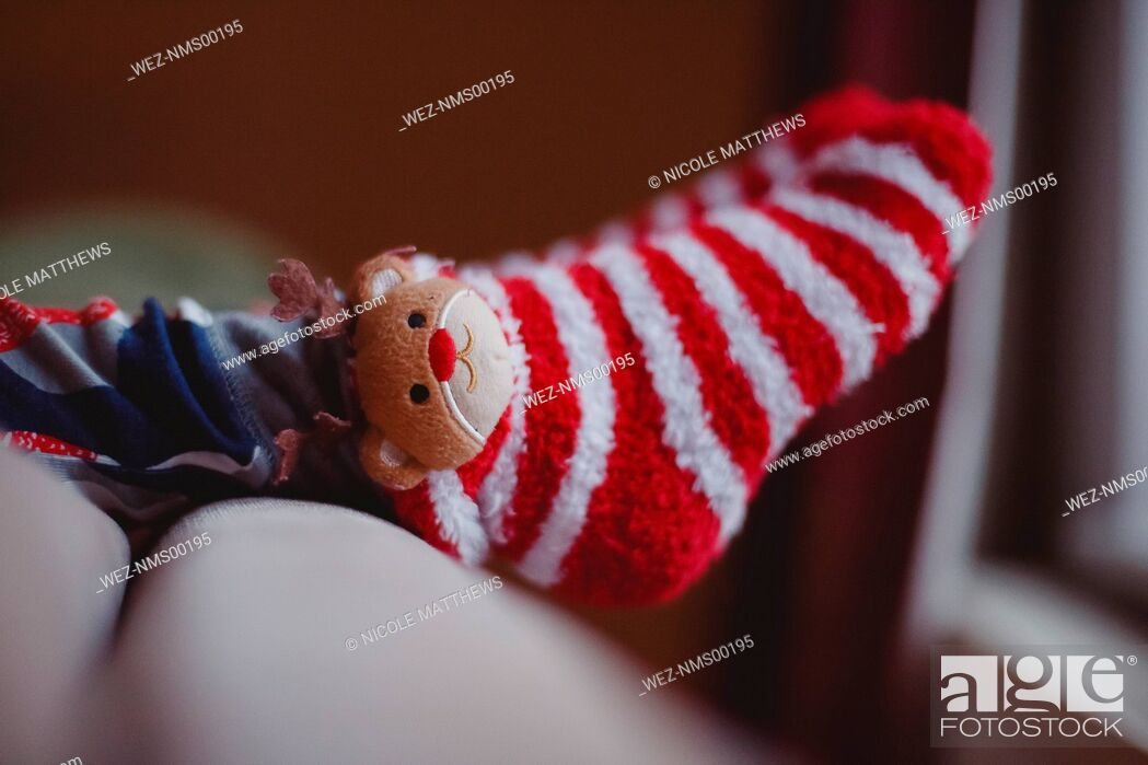 Photo de stock: Cute Christmas socks.