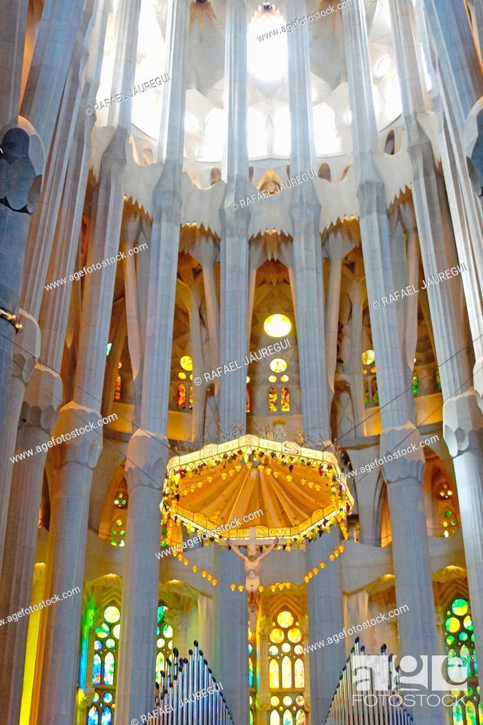 Stock Photo: Barcelona (Spain). High Altar of the Sagrada Familia in Barcelona.