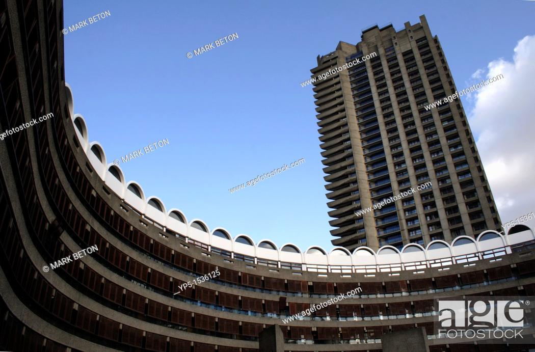 Stock Photo: Residential apartments Barbican London.