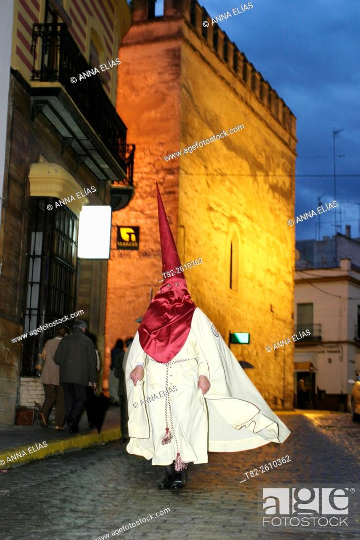 Stock Photo: Easter in Spain, procession of Holy Name, Marchena, Sevilla, Andalucia, Spain, Europe.