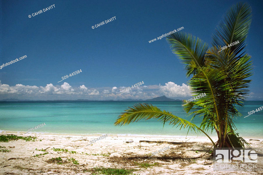 Stock Photo: Tropical beach on the Andaman Sea in the Nopparat Thara National Marine Park near Krabi. Thailand.