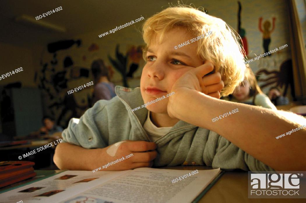 Stock Photo: Boy in class.