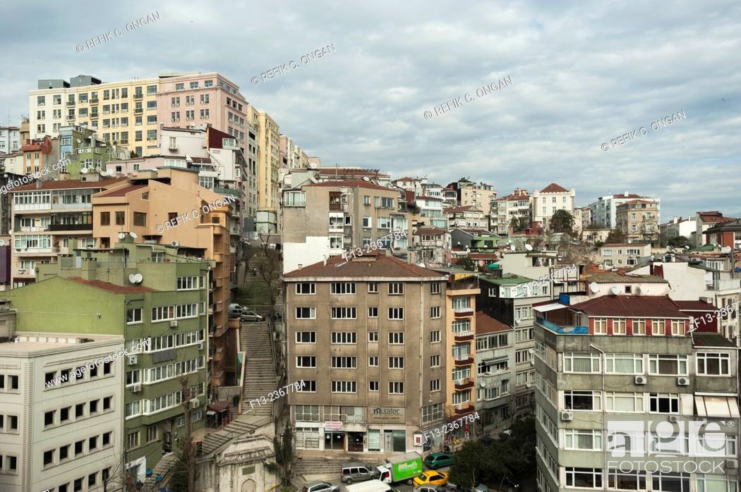Stock Photo: Istanbul city main district area near Taksim.