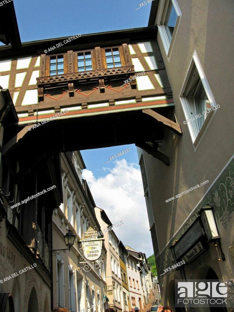 Stock Photo: Buildings in a Rhin town.