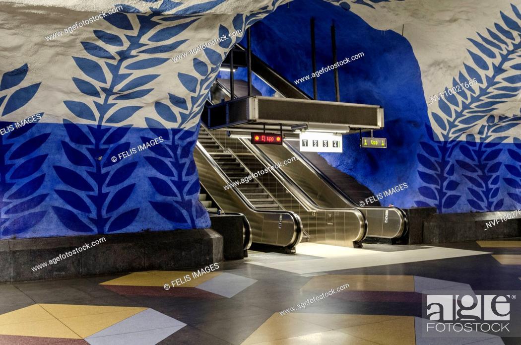 Stock Photo: Metro station, Stockholm, Sweden.