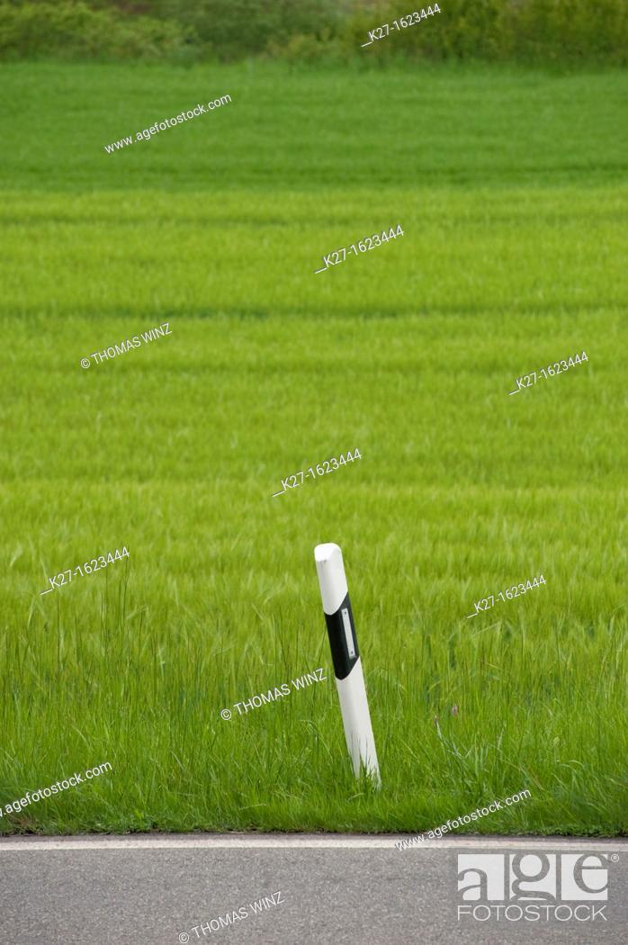 Stock Photo: Road marker.