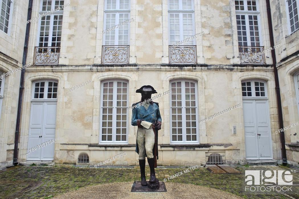 Stock Photo: Sculpture representing Toussaint Louverture ( Haitian freedom fighter who lived in the XVIII° century. He was the leader of the Haitian revolution.