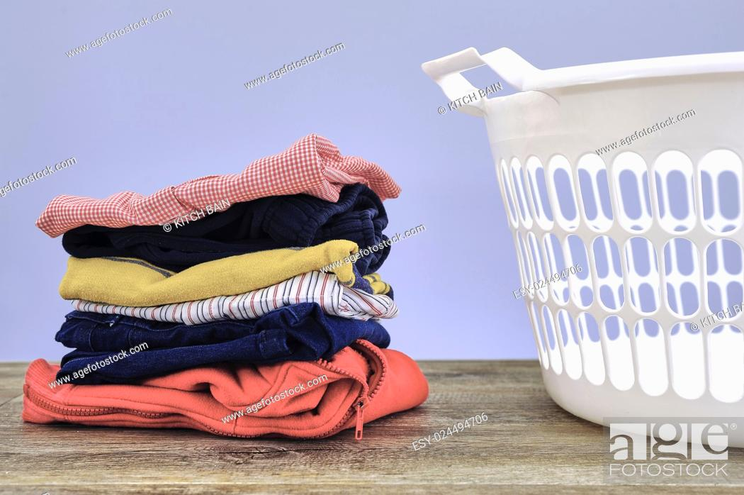 Stock Photo: A studio photo of ironing and laundry items.