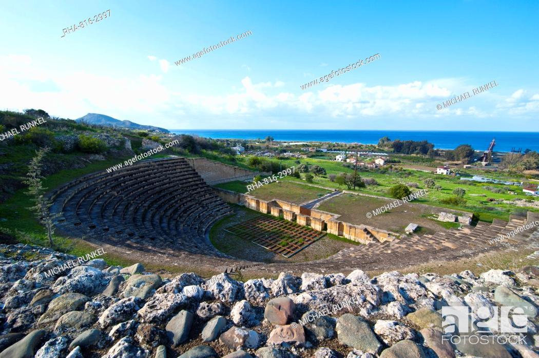 Stock Photo: Roman ruins of Soloi, Turkish part of Cyprus, Cyprus, Europe.
