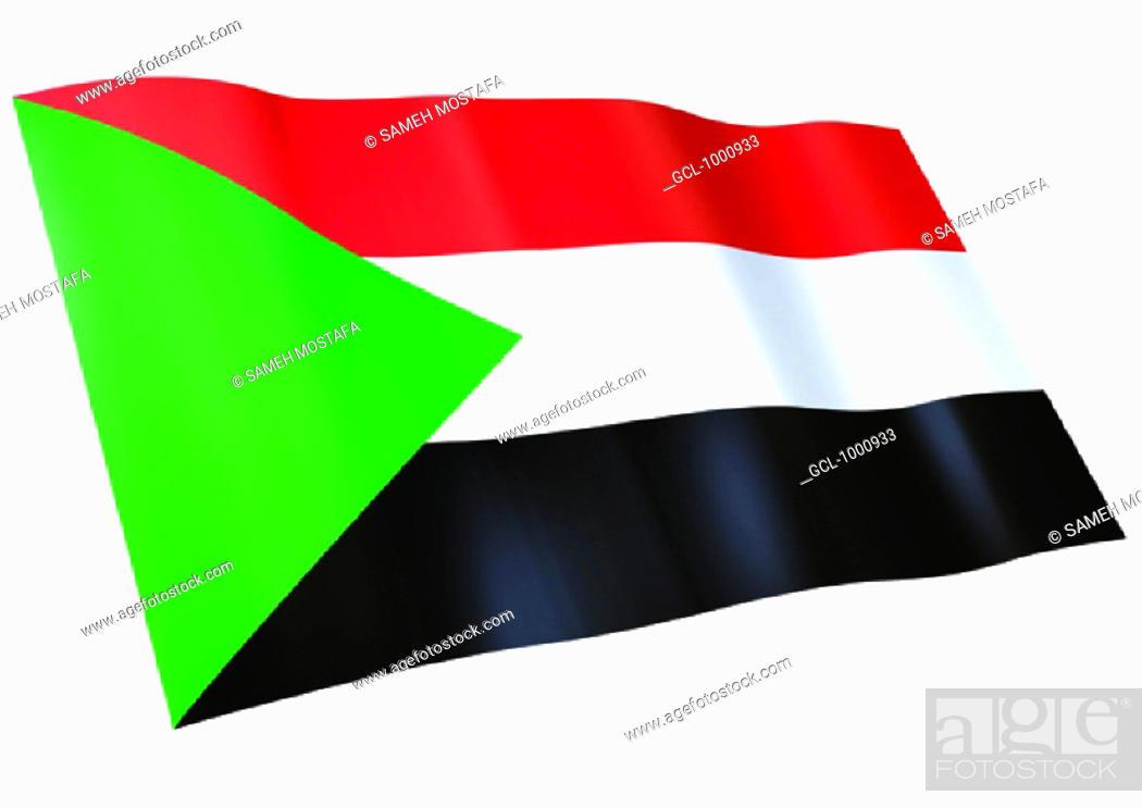 Stock Photo: flag of Sudan.