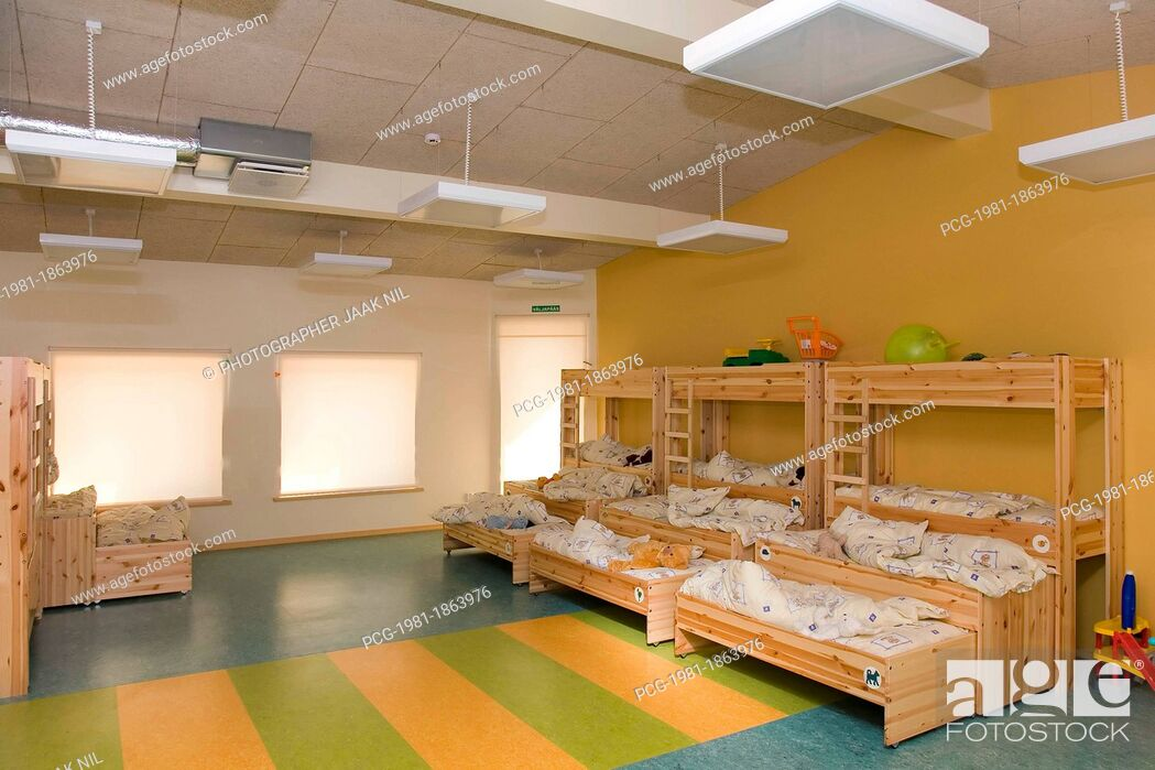 Stock Photo: Kindergarten Nap Room.