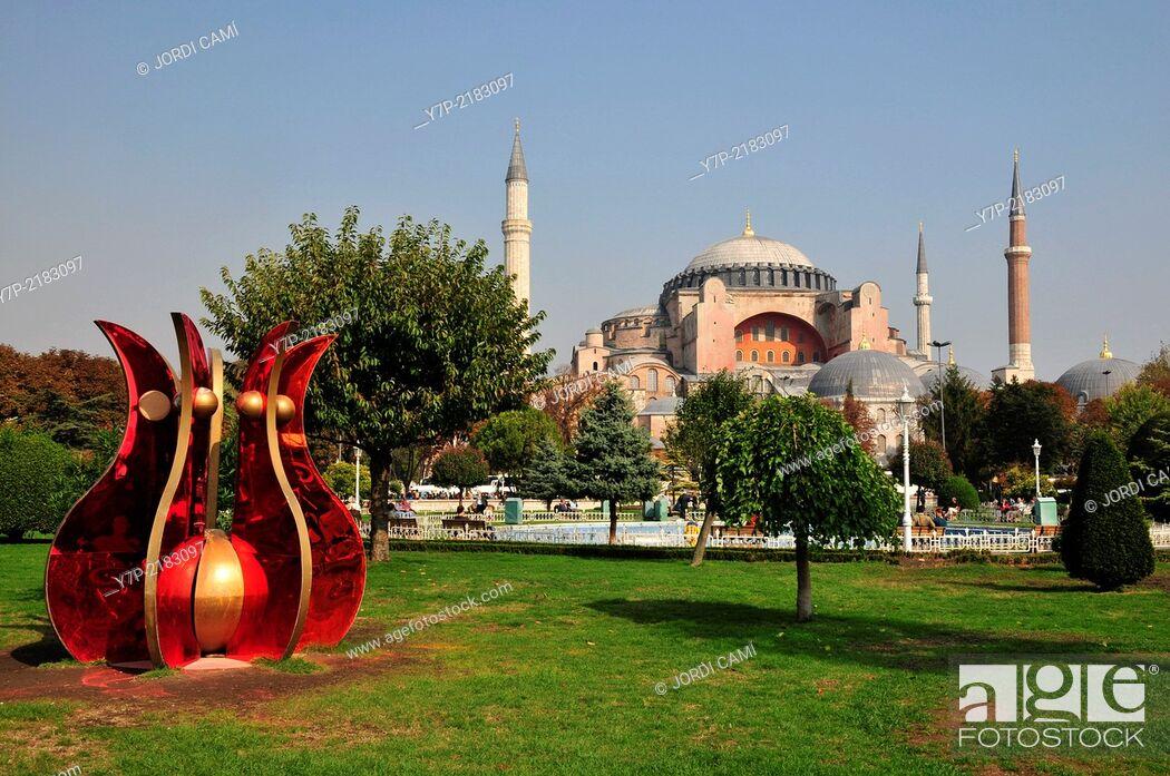 Stock Photo: Hagia Sofia mosque . Sultanahmet.Istanbul. Turkey.