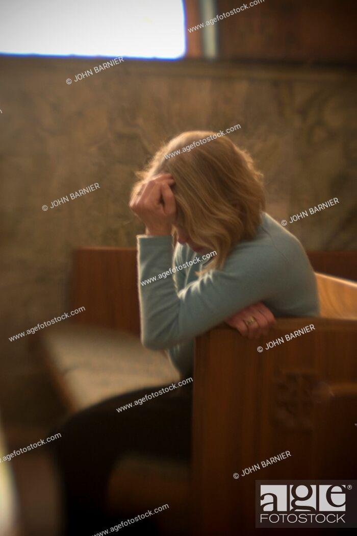 Stock Photo: Grief Sticken Woman.