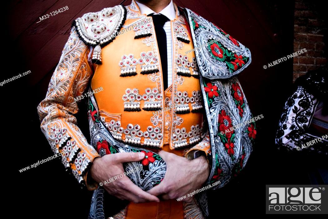 Stock Photo: Bullfighter in Las Ventas bullring, Madrid, Spain.