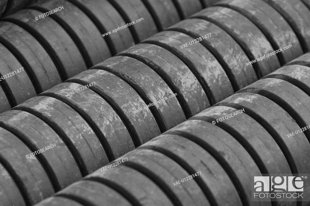 Stock Photo: iron, metal, metallic, close-up, abrasions, oxidized.