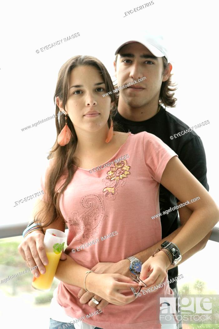 Stock Photo: View of a young couple.