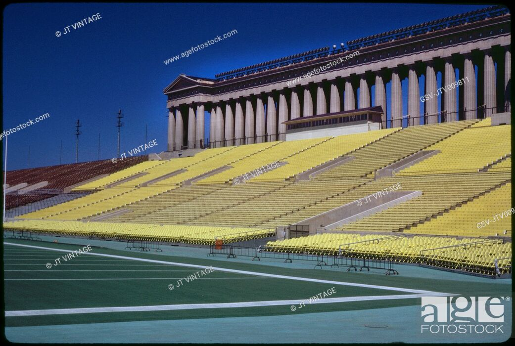 Stock Photo: Field View, Soldier Field, Chicago, Illinois, USA, 1972.