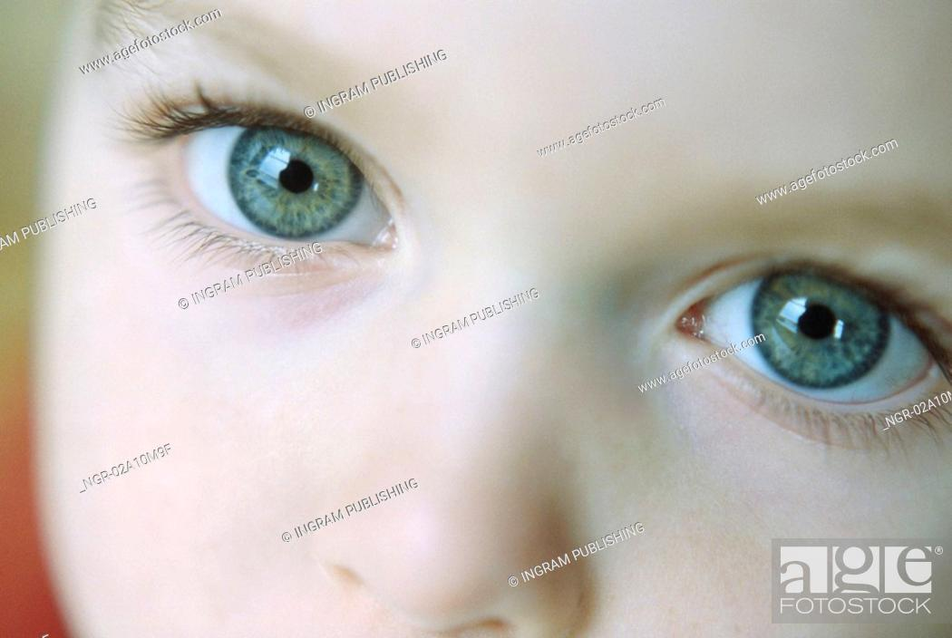 Stock Photo: Eyes of a Child.
