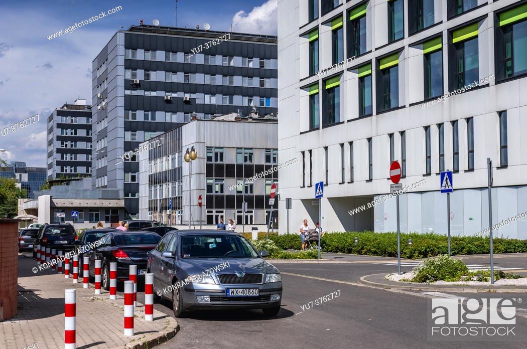 Photo de stock: Children Clinical Hospital named after Polikarp Brudzinski and Banacha Hospital in Warsaw city, Poland.