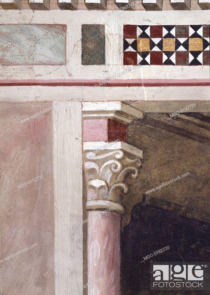 Stock Photo: Miracle of the Resurrection of the Bull (Miracolo della risurrezione del toro), by Maso di Banco, 1340, 14th Century, fresco.