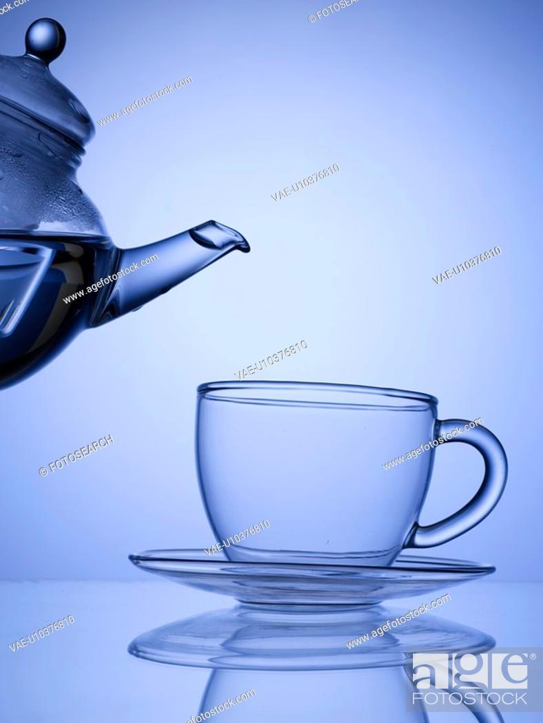Stock Photo: teacup, house item, teaport, glass.