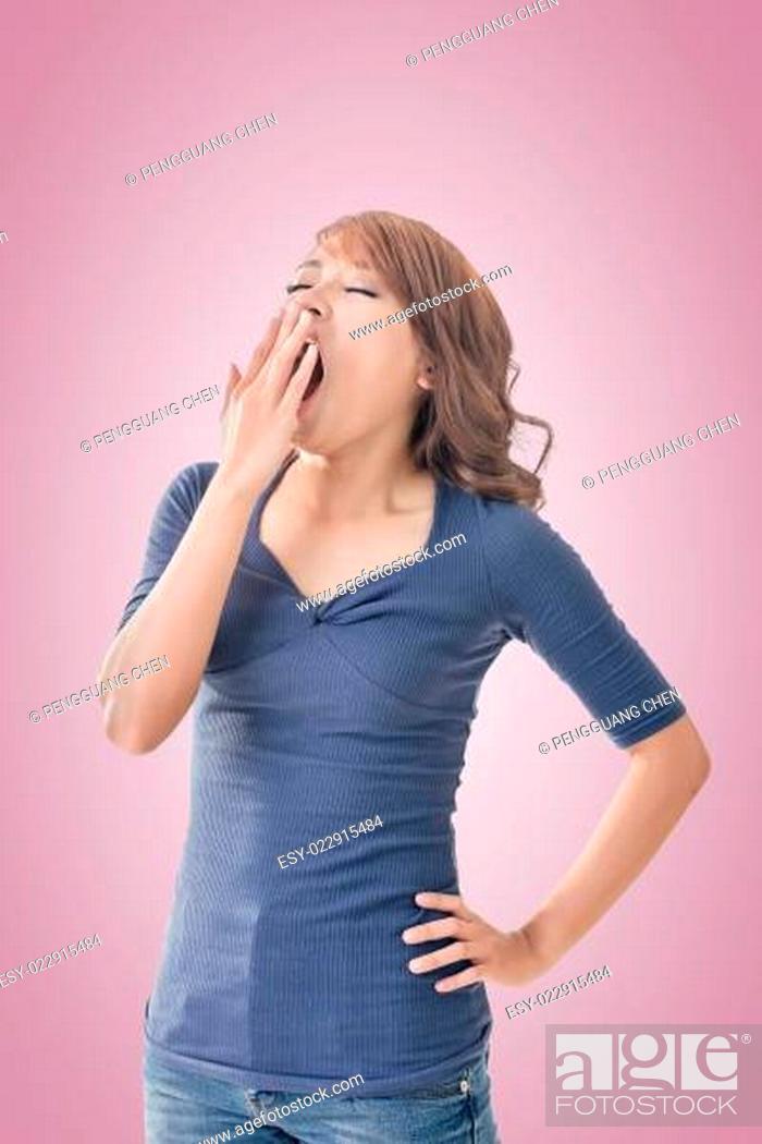 Stock Photo: Asian woman face.