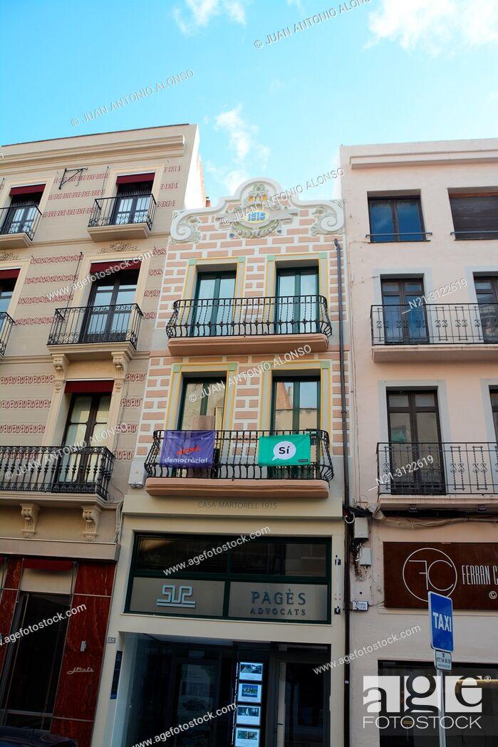 Stock Photo: Modernisme in Reus, Tarragona, Catalonia, Spain, Europe.