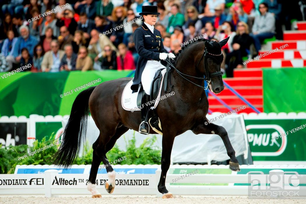German Dressage Rider Kristina Sprehe Rides On Her Horse Desperados Frh In The Dressage Single Stock Photo Picture And Rights Managed Image Pic Pah 51474635 Agefotostock