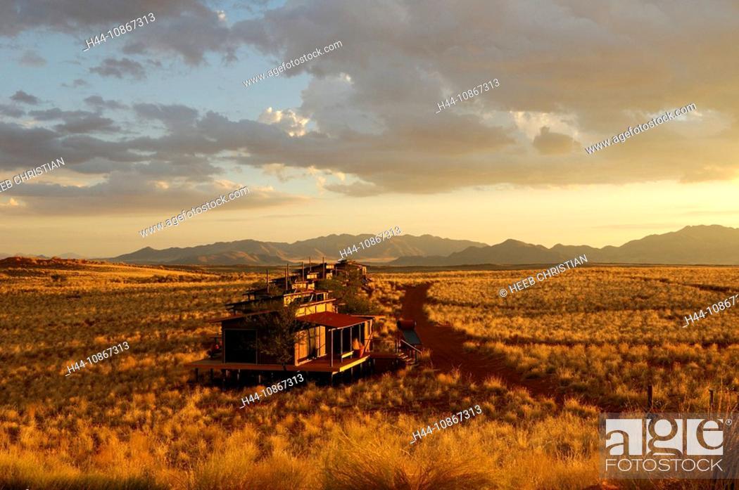 Stock Photo: Chalet, Dunes Lodge, Wolwedans Lodge, Namib Rand Nature Reserve, Hardap Region, Namibia, Africa, Travel, Nature.