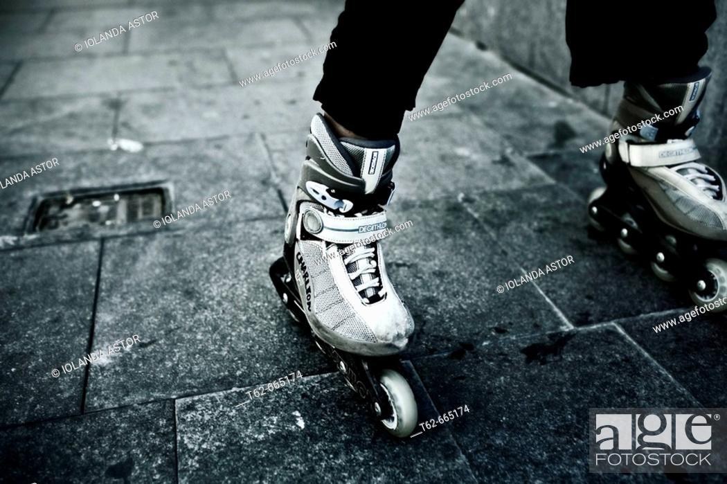 Stock Photo: In-line skate.