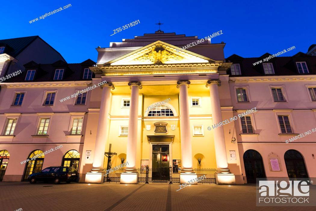 Stock Photo: Church of St. Andrew the Apostle and St. Brother Albert. Warsaw, Poland, Europe.
