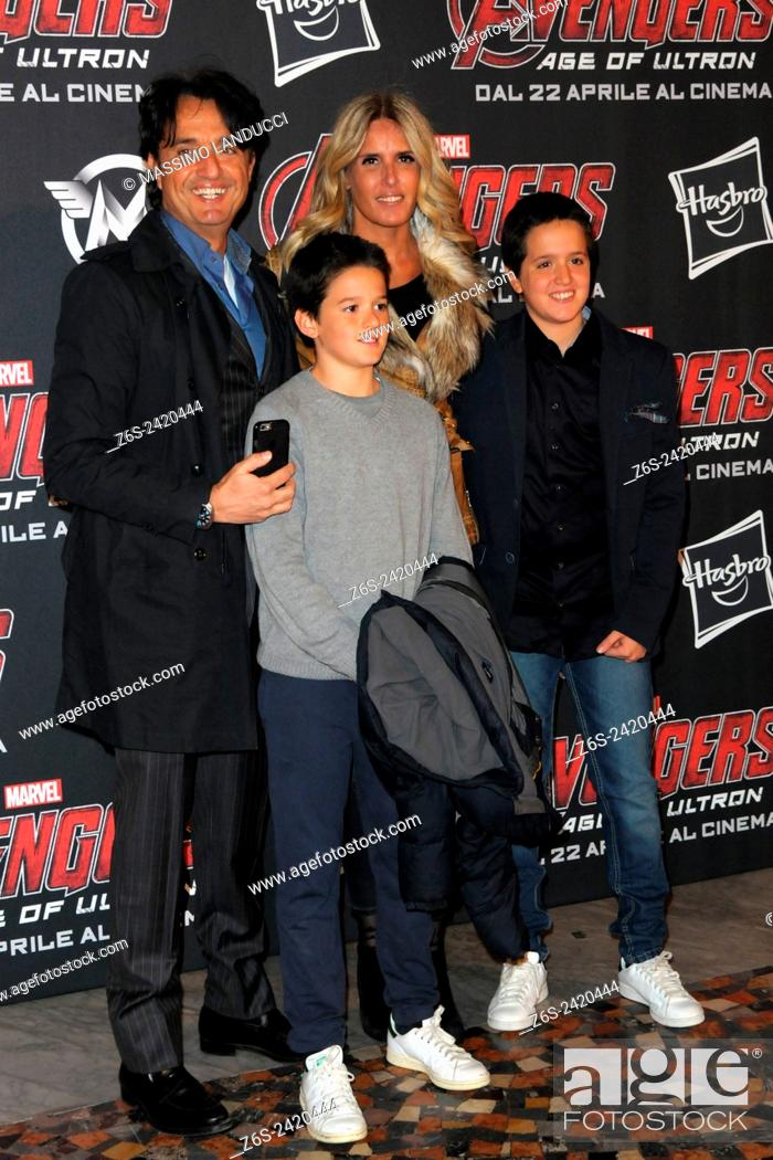 Imagen: tiziana rocca, giulio base, actress, director, celebrities, 2015, rome, italy, event, red carpet, avengers, age of ultron.