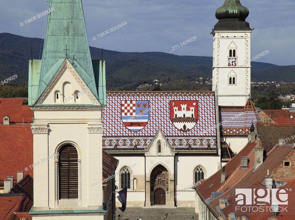 Imagen: Croatia, Zagreb, Upper Town, St Mark Church, Greek Catholic Church.