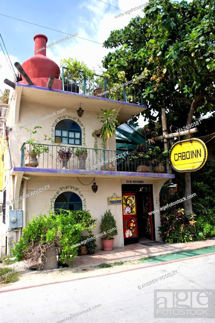Stock Photo: Cabo Inn guest house hotel Cabo San Lucas Baja California Sur Mexico.