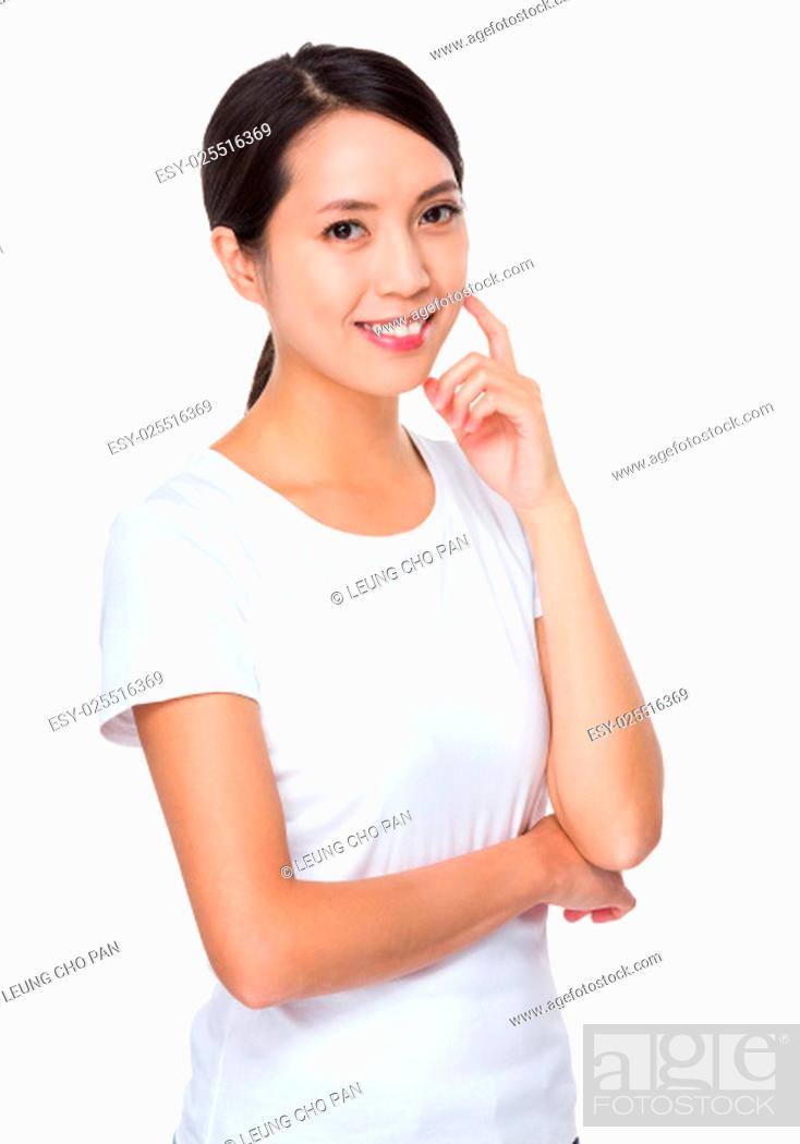 Stock Photo: Young woman portrait.