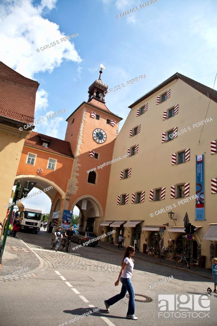 Stock Photo: Wurstkueche historical in Regensburg, Germany.