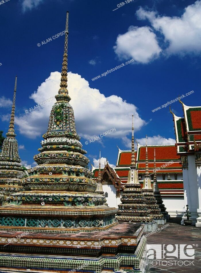 Stock Photo: Wat Po. Bangkok. Thailand.