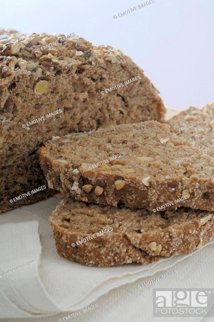 Stock Photo: Natural wholemeal bread.