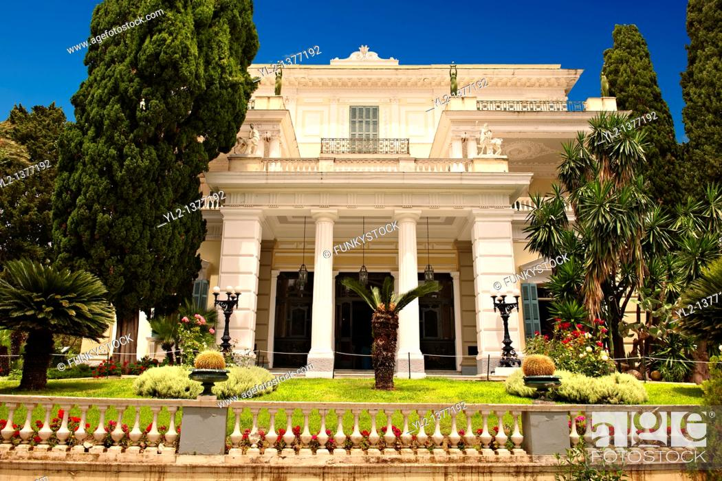 Stock Photo: Achilleion Palace, Corfu, Greece.