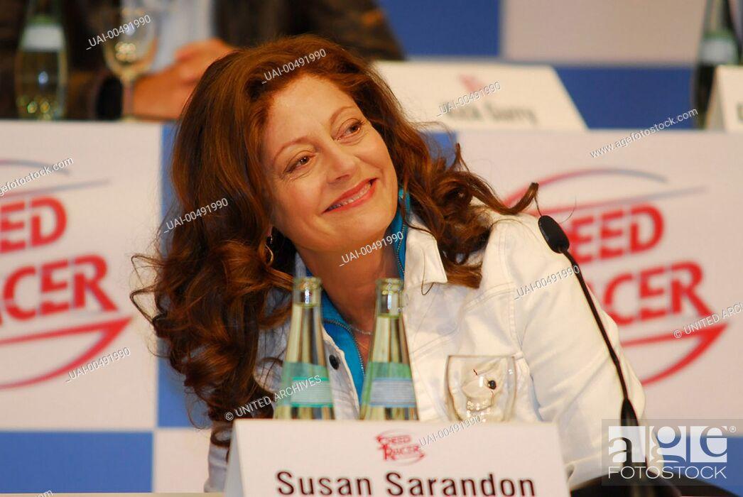 Imagen: SPEED RACER / SUSAN SARANDON, Speed Racer, Press Conference in Berlin (31 may 2007) Regie: Andy Wachowski, Larry Wachowski / SPEED RACER USA 2008.