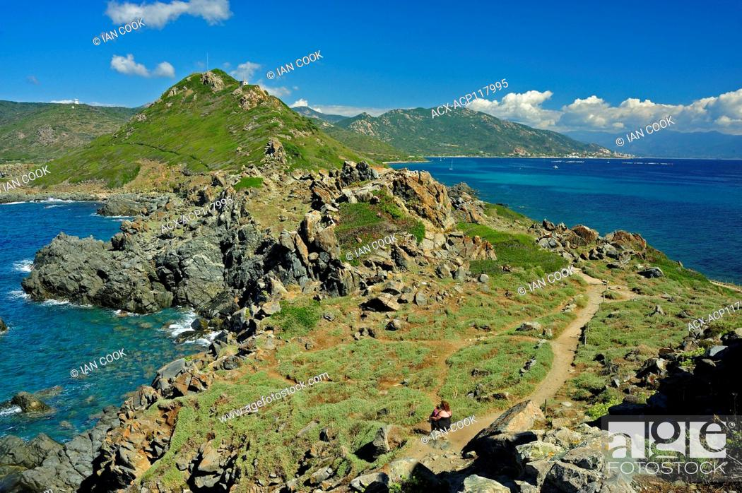 Photo de stock: Parata Peninsula, Ajaccio, Corsica, France.