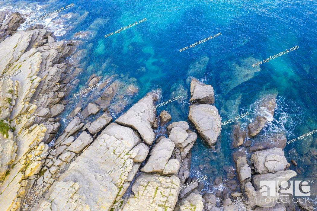 Stock Photo: Coastal landscape. Cantabria, Spain, Europe.